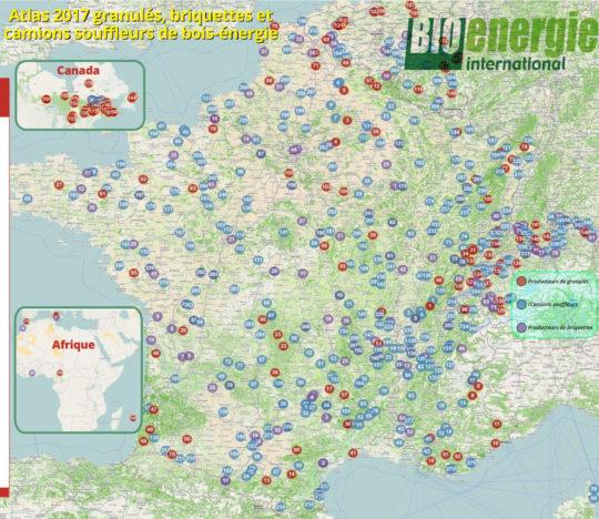 Atlas Bioénergie International granulés, briquettes et camions souffleurs 2017. Cliquer sur l'image pour l'agrandir.