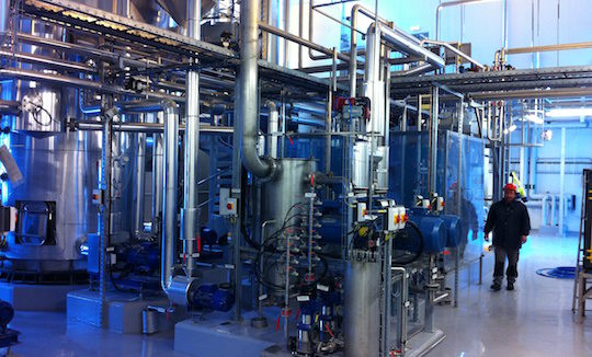 Installation de traitement des digestats liquides de l'usine de méthanisation Ege Biogass en Norvège, photo France Evaporation