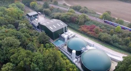 Installation de Willen Biogas près de Londres, image Xergi