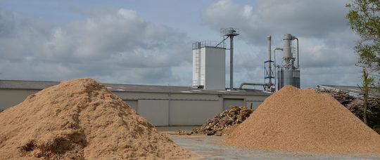 L'usine de granulation de bois de Trichet Environnement en Vendée, photo Frédéric Douard
