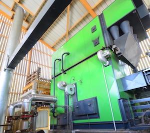 La chaudière Polzenith de 2 MW, photo Frédéric Douard