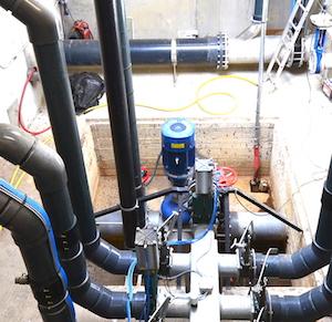 La pompe centrale Biogaz Hochreiter au GAEC des Fricjes, photo Frédéric Douard