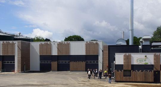 Le site de l'usine de méthanisation de Locminé, photo LIGER