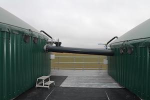 Le système de transfert entre les digesteurs à Leffincourt, photo BioConstruct