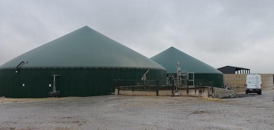 Les installations de méthanisation de la Sarl Rose et Vert à Leffincourt, photo BioConstruct