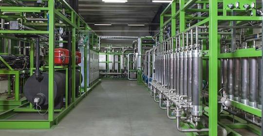 Solutions Pentair pour l'épuration du biogaz, photp Pentair