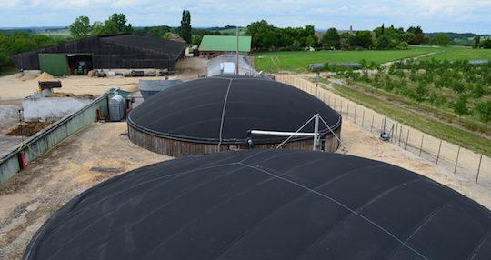 Vue de l'installation de Clottes Biogaz à Nojals & Clottes en Dordogne, photo Frédéric Douard