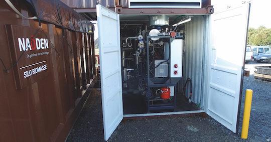 Détail du module de cogénération par gazéification installé à Vertou, photo Naoden