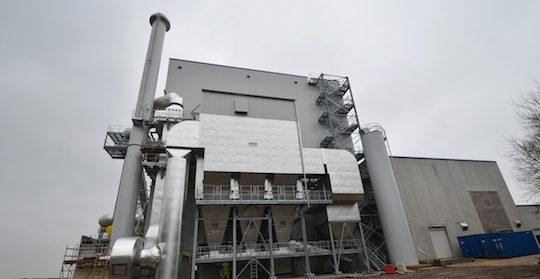 La centrale de cogénération BERTSCHEnergy chez Kronospan Luxembourg, photo Frédéric Douard