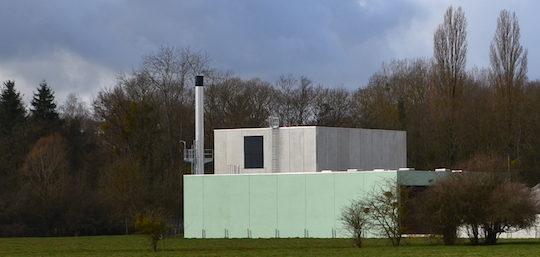 La chaufferie biomasse du réseau de Nevers à côté de l'UVED de Fourchambault, photo Frédéric Douard