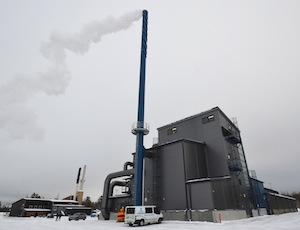 La chaufferie de Kauhava en Finlande est équipée d'un condenseur Caligo avec pompe à chaleur, photo Frédéric Douard