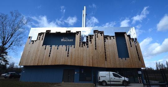 Le bâtiment-chaufferie du Wacken incarne l'image même de la transition énergétique, photo Frédéric Douard