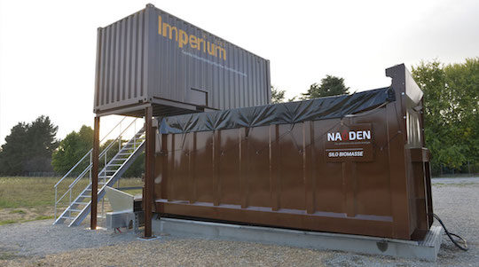 Le module de cogénération Impérium installé à Vertou par Naoden, photo Naoden