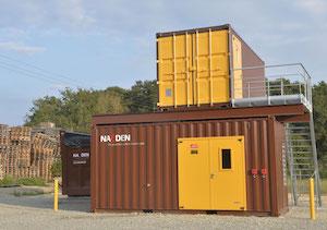 Le module de cogénération Impérium installé à Vertou, photo Naoden