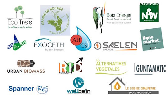 Les partenaires des premières journées de la biomasse en Morbihan