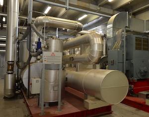 Module ORC de 1 MWé à Sospiro, photo Frédéric Douard