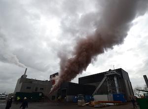 Opération de chasse-vapeur le 9 mars 2017 chez Cogelan, photo Frédéric Douard