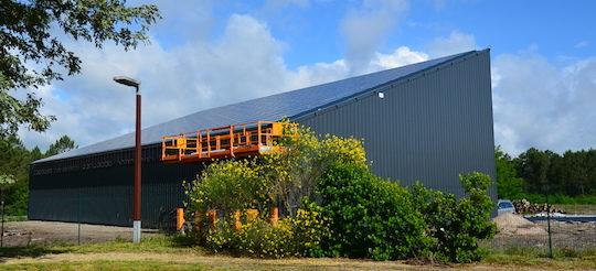 Plateforme de séchage thermovoltaïque de bois-énergie Base Innovation, photo Frédéric Douard