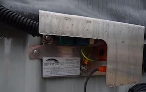Sonde de niveau du digesteur SEITZ, photo Frédéric Douard