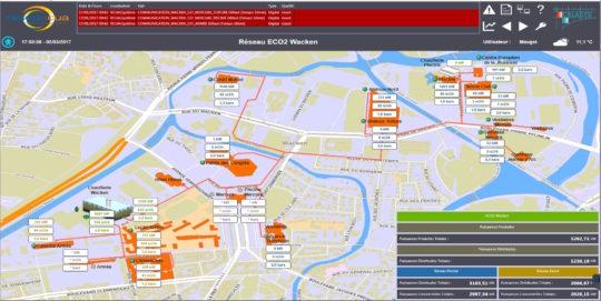 Supervision du réseau du Wacken, photo EBM Thermique - Cliquer sur l'image pour l'agrandir.