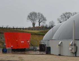 Unité de méthanisation des Energiculteurs de l'Oust à La Chapelle Caro, photo Frédéric Douard