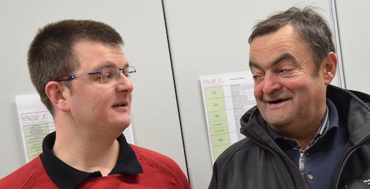 Adrien Haller de AHCS à gauche et Paul Ropert, photo Frédéric Douard