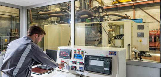 Banc d'essai Fauché Energie à l'usine de Langon, photo Fauché