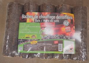 Briquettes à base de marc de café et de bois, photo Frédéric Douard