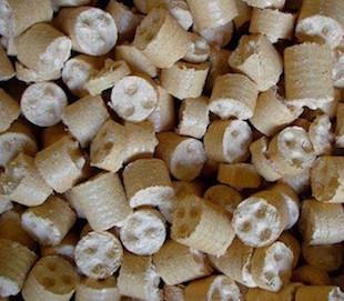 Briquettes de menuiserie, photo CF Nielsen