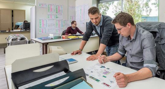 Bureau d'études Fauché Energie à l'usine de Langon, photo Fauché