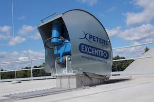 Carter de protection du motoréducteur de l'agitateur Excentro, photo Peters Mixer