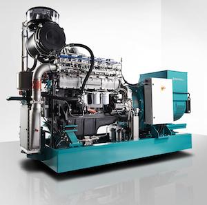 Cogénératrice Schnell 6r201b de 500 kW, avec 42 % de rendement électrique (210 kW) et 40 % de rendement thermique (200 kW)