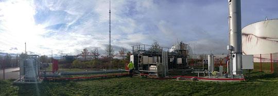 Cryo Pur en opération sur le site du SIAAP à Valenton, photo Cryo Pur