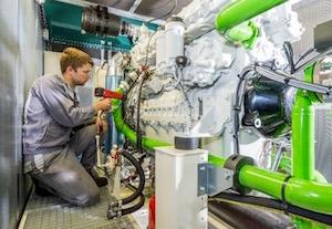 Fabrication d'un module de cogénération TERRAGEN, photo Fauché