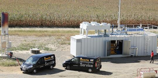 Intervention de la société ENERIA sur le premier module de cogénération CATERPILLAR des Ets LABAT, photo Eneria