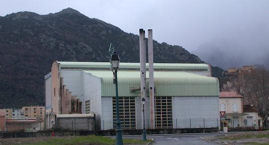 La chaufferie biomasse du réseau de chaleur de Corte, photo Frédéric Douard