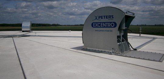 L'agitateur Peters Mixer à pales Excentro V est accessible même digesteur plein, photo Peters Mixer
