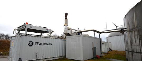 Le module de cogénération GE Jenbacher de 500 kWé à Parndorf, photo Frédéric Douard