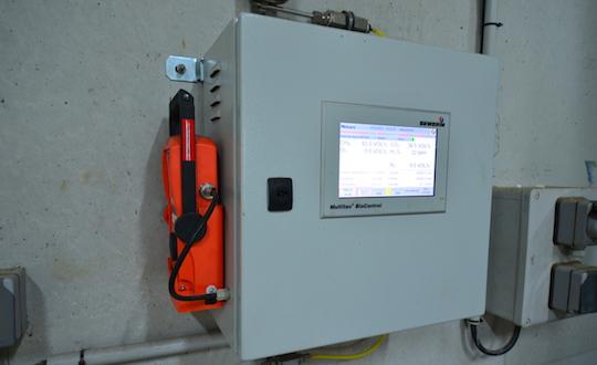 Le terminal d'analyse de biogaz Multitec® BioControl de chez SEWERIN, photo Frédéric Douard