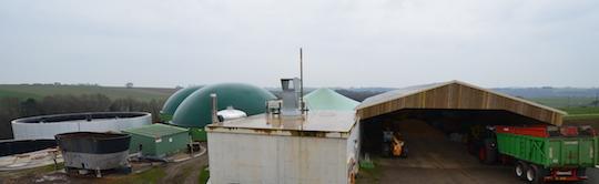Les installations de méthanisation de la SCEA Ropert à Bréhan, photo Frédéric Douard