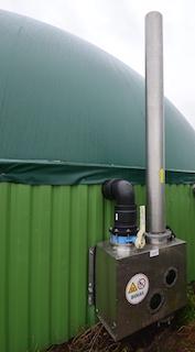 Régulateur de pression BIOGASKONTOR pour le ciel gazeux du digesteur, photo Frédéric Douard