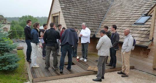 Visite de la chaufferie de Mazeirac organisée par la mission Bois Energie Lozère, l'une des plus anciennes d'Occitanie, photo Frédéric Douard