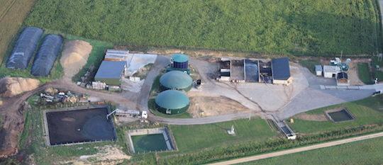 Vue du site Bio Energie Touraine, photo Bio Energie Touraine