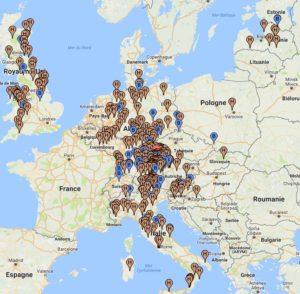Carte des 700 références Spanner - Cliquer sur la carte pour l'agrandir.