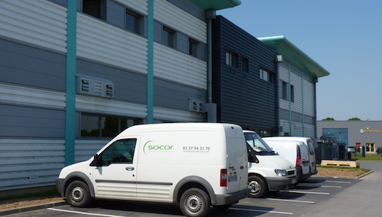 Le laboratoire SOCOR à Dechy dans le département du Nord, photo Frédéric Douard
