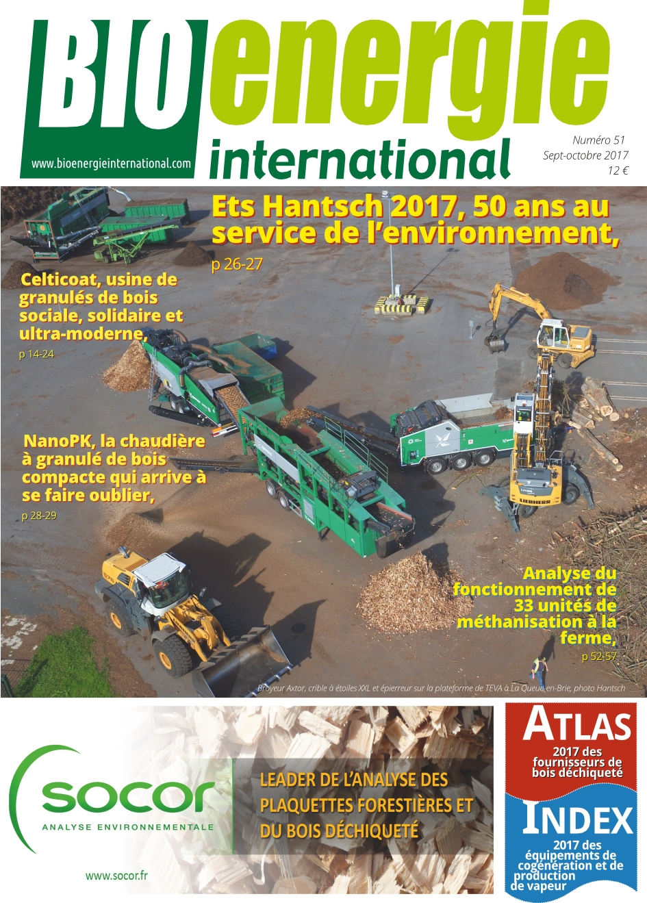 Bioénergie international n°51 – Septembre – octobre 2017