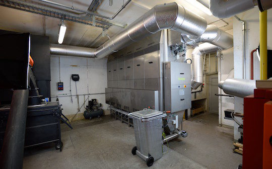Oekosolve, des électrofiltres  pour petites et moyennes chaufferies à biomasse