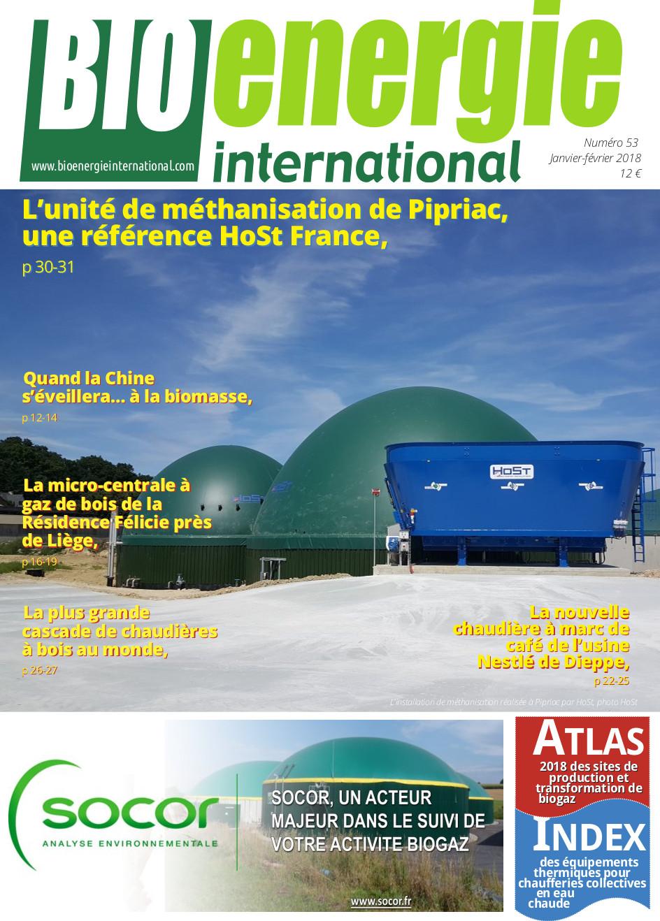 Bioénergie international n°53 – Janvier – février 2018