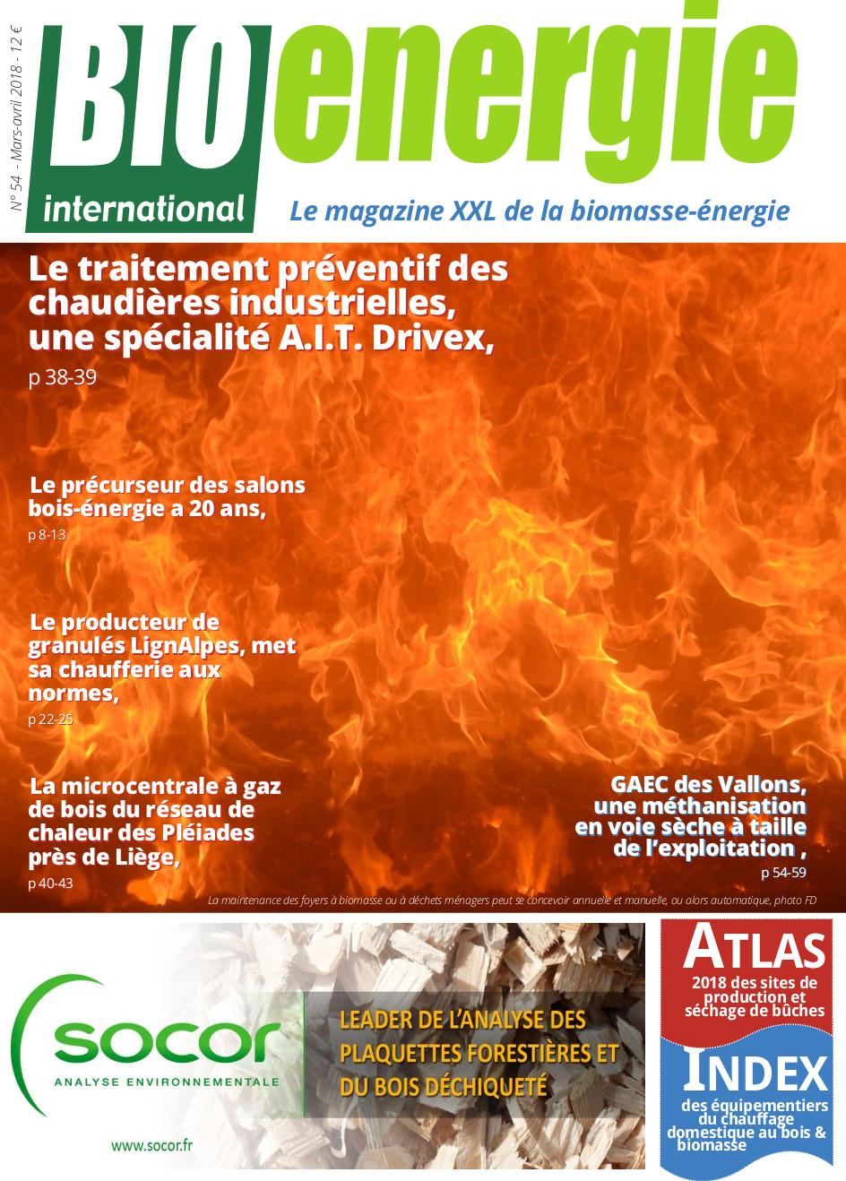Bioénergie international n°54 – Mars – avril 2018