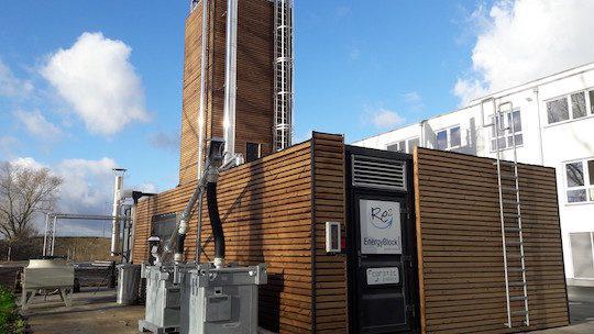 La micro-centrale à gaz de bois de la Résidence Célinie près de Liège